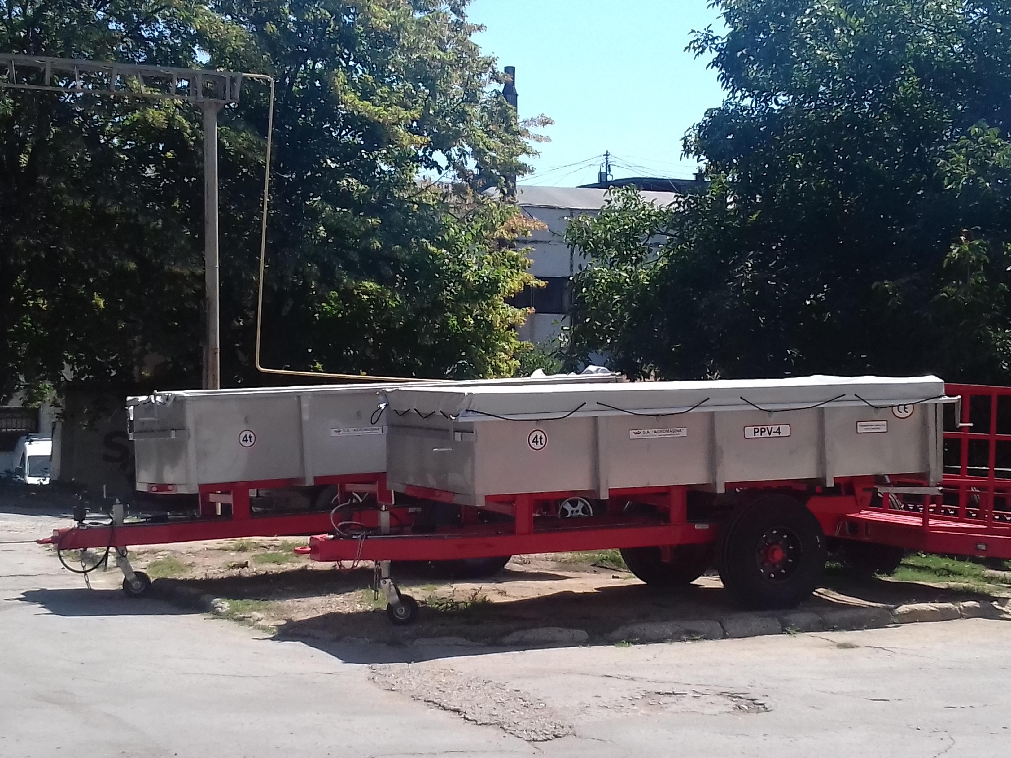 Semiremorca pentru transportarea strugurilor PPV-4 (4t) - Image 6