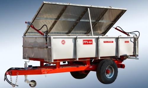 Semiremorca pentru transportarea strugurilor PPV-4 (4t) - Image 2